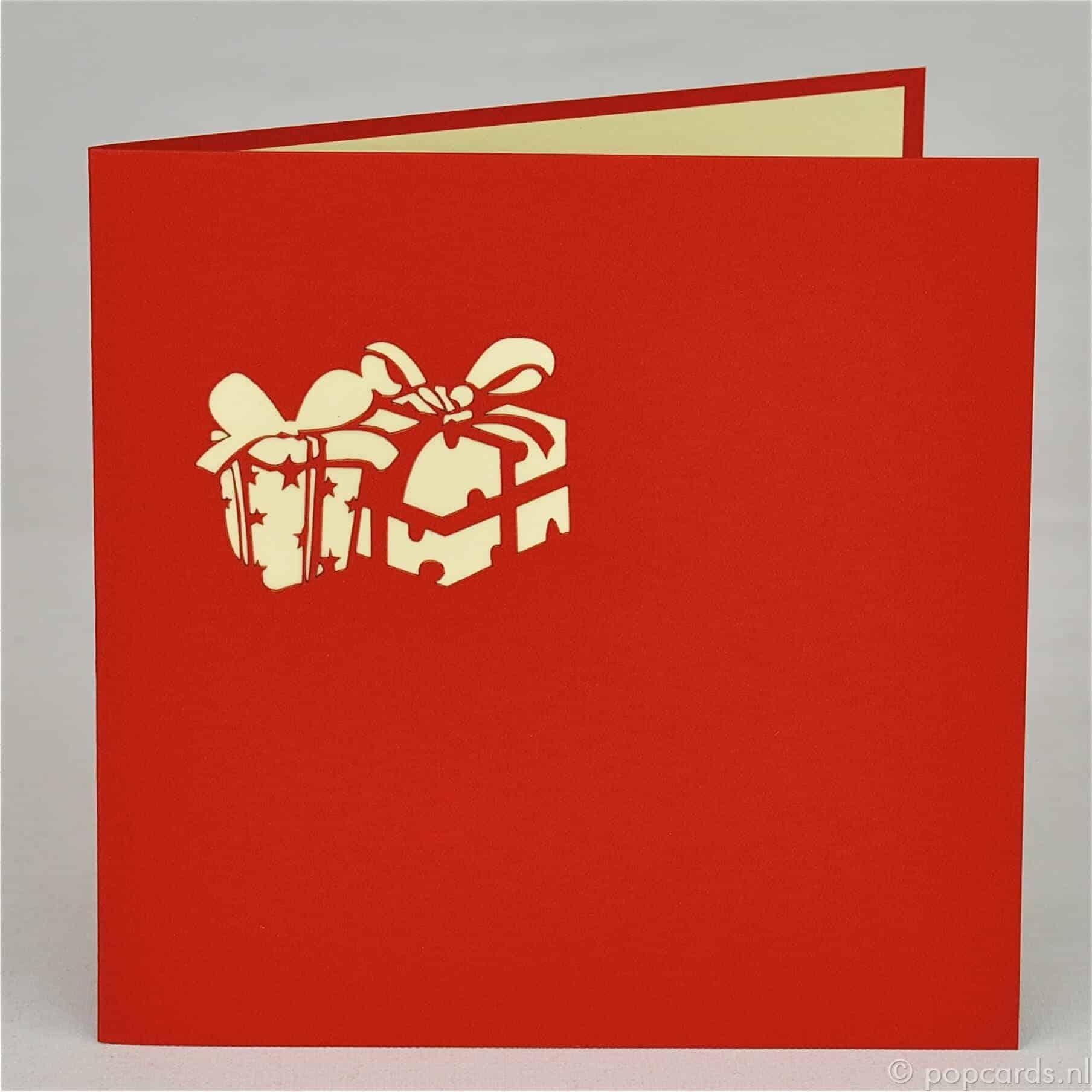 Cadeautje In Vrolijke Kleuren Wenskaart Popcardsnl Pop Up Kaarten