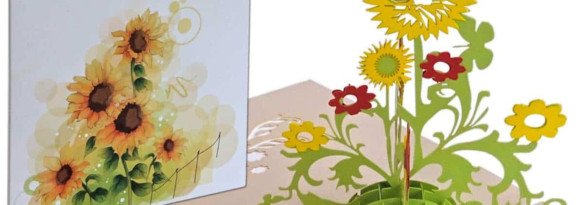 Popcards.nl Girasoles de colores