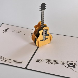 Popcards.nl pop up kaart Gitaar muziek