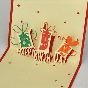 Popcards.nl pop up kaart verjaardagskaart Cadeautjes