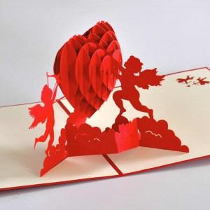 Popcards.nl pop up kaart Hart Cupido valentijn