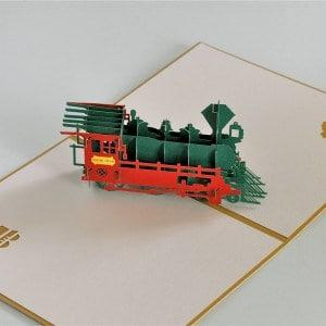 Popcards.nl pop up kaart Locomotief trein