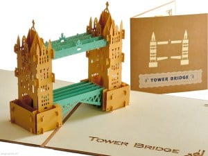 Popcards.nl tarjeta emergente Tower Bridge