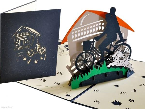 Popcards.nl carte pop-up Carte mobile déménagement déménagement nouvelle maison nouvelle maison