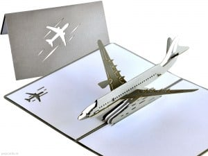 Popcards.nl Pop-up Karte Flugzeug modern
