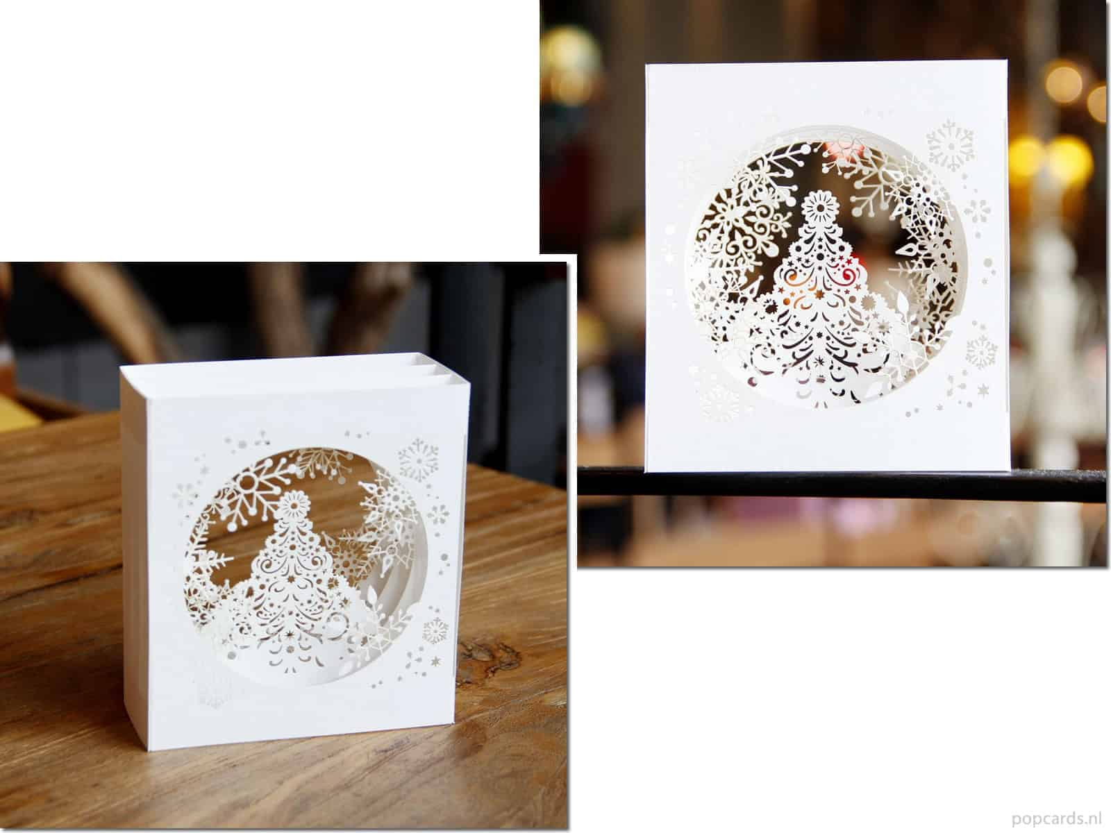 Chique Witte 3d Kerstkaart Popcards Nl Pop Up Kaarten