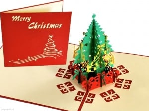 Popcards.nl pop up kaart kerstkaart kerstboom