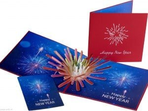 Popcards.nl pop up card christmas card happy new year new year card