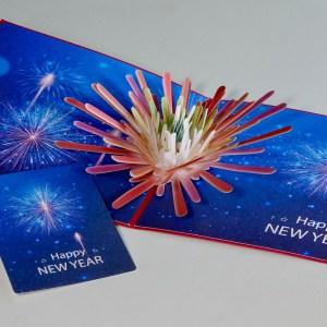 Popcards.nl pop up kaart kerstkaart gelukkig nieuwjaar