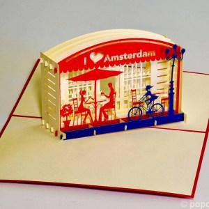 Popcards.nl pop up kaart Amsterdam terras
