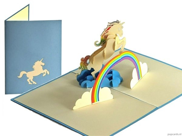 Popcards.nl pop up card licorne licorne