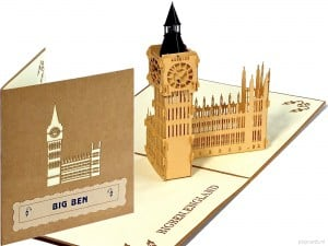 Popcards.nl pop up kaart Big Ben