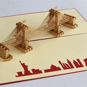 Popcards.nl pop up kaart Brooklyn bridge