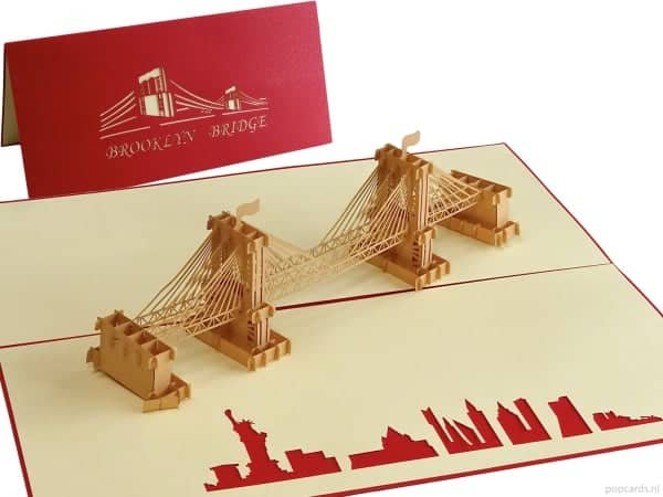 Popcards.nl pop up kaart Brooklyn bridge