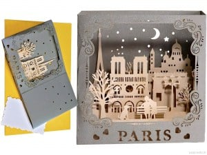 Popcards.nl pop-up-kort Paris Sacre Coeur Montmartre