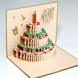 Popcards.nl pop up kaart taart verjaardagskaart