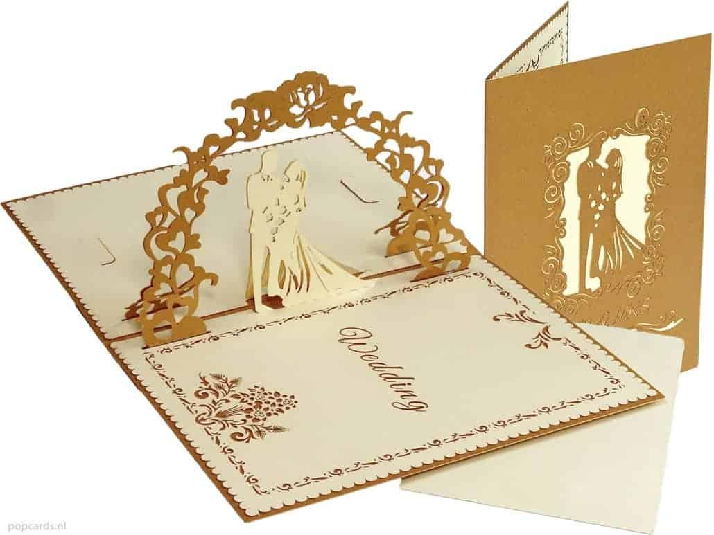 Popcards.nl Pop-up-Karte Hochzeitskarte