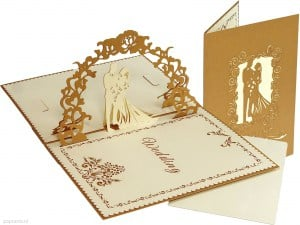 Popcards.nl pop up card Carte de mariage