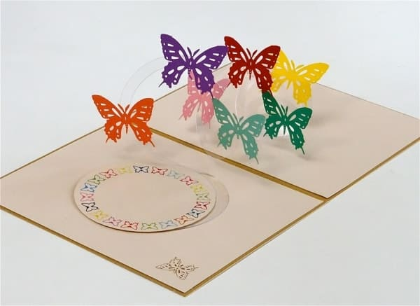 Popcards.nl pop up card Papillons