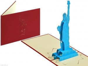 Popcards.nl pop-up-kort Statue of Liberty