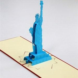 Popcards.nl pop up kaart Vrijheidsbeeld