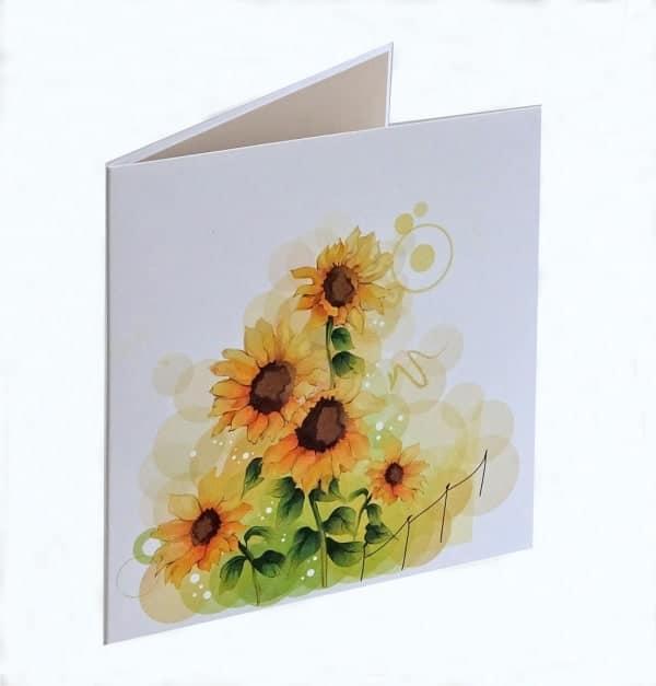 Sonnenblumen bedecken