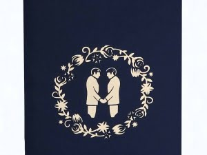 Popcards.nl pop up card matrimonio gay gay wedding card
