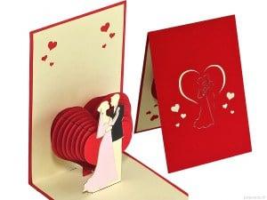 Popcards.nl pop up kaart huwelijk hart trouwkaart