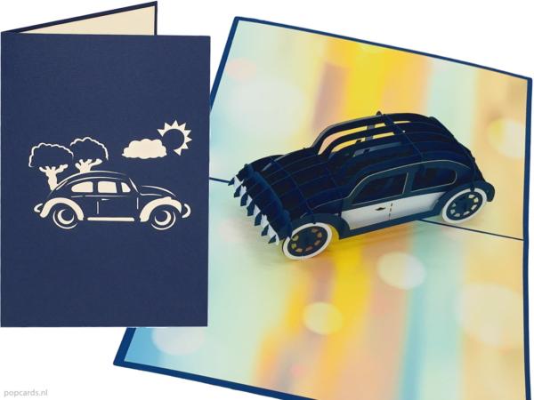 Popcards.nl Volkswagen Beetle Beetle Herbie 53 new beetle car classic car car 3d card pop up card biglietto di auguri