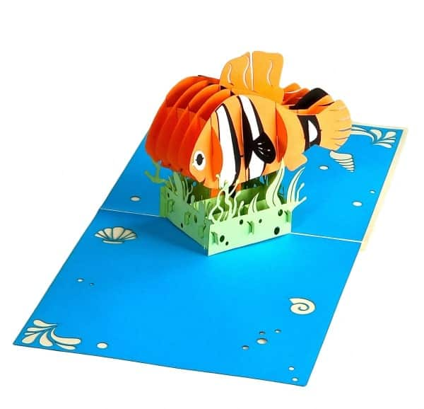 Popcards.nl pop up kaart nemo vis