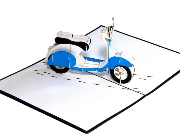 Popcards.nl pop-up-kort vespa