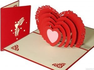 Popcards.nl Love card I love you I love you big red heart valentine valentine mother's day