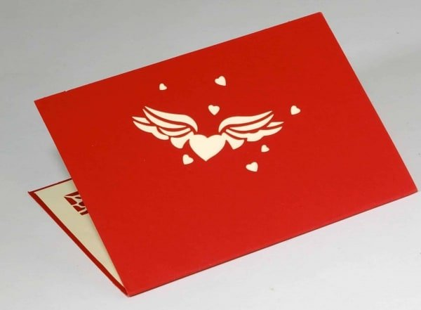 Popcards.nl Love card I love you I love you big red heart valentine