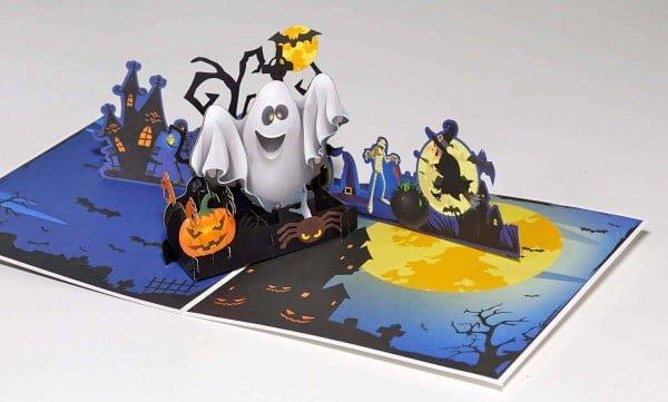 Halloween party uitnodiging pop-up kaart