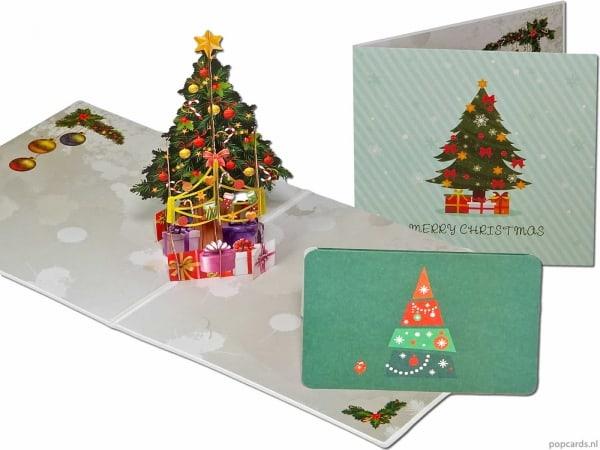 Popcards.nl Juletræ med gaver