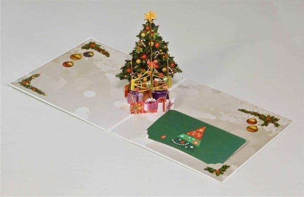 Popcards.nl Weihnachtsbaum mit Geschenken