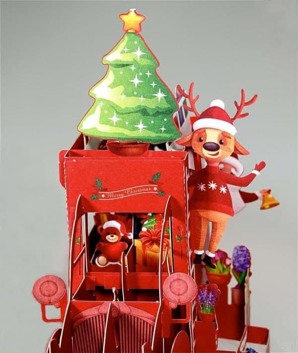 Popcards.nl Kerstkaart kerstman auto Citroën 2CV lelijke eend