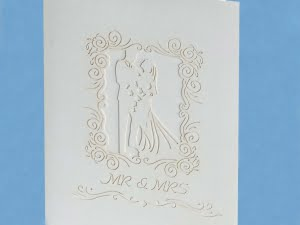 Popcards.nl Large Romantic white Wedding card wedding marry anniversary wedding card