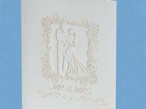 Popcards.nl Biglietto matrimonio bianco romantico grande matrimonio matrimonio anniversario anniversario