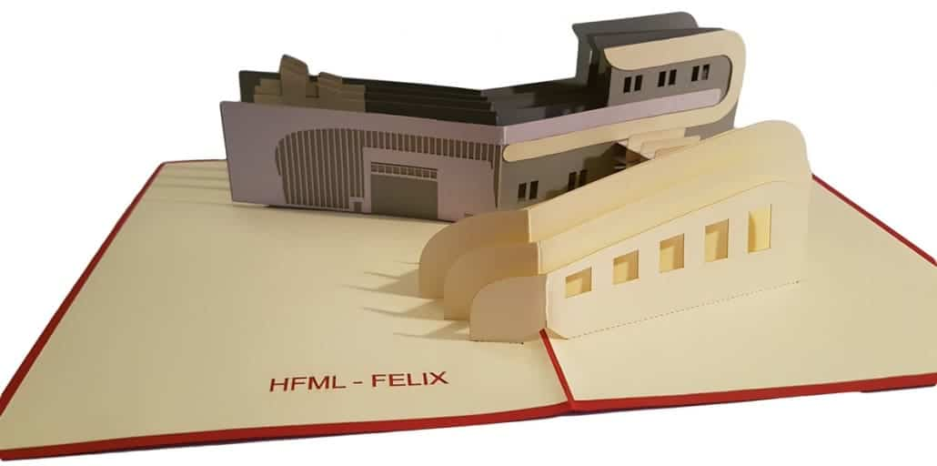 Pop-upkaart gebouw HFML-FELIX