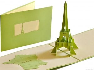 Torre Eiffel Parigi carta 3D pop up card