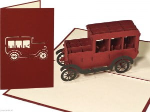 Popcards pop-up-kort klassisk bil T-ford gratulasjonskort oldtimer