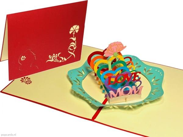 Popkarten Popup-Karte Muttertag Mutter Grußkarte Muttertag Karte