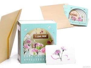 Popcards pop-up kaart Moederdag moeder wenskaart moederdagkaart