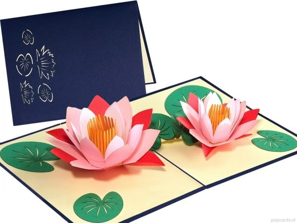 Popcards.nl pop up card lotus flower popup card