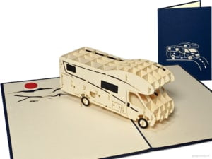 Popcards.nl pop up card camper camping caravan freedom camping place sleur cabin greeting card 3D card