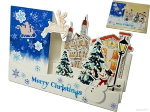 Popcards Pop-Up Cards - Belle carte de Noël 3D Carte de Noël romantique joyeux Noël