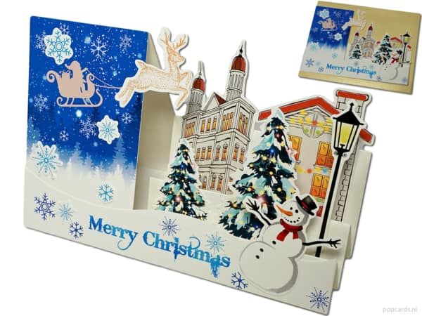 Popcards Pop-Up Cards - Beautiful 3D Christmas Card Romantic Christmas Merry Christmas pop-up card