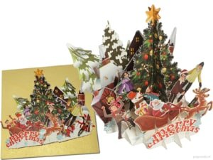 Popcards.nl pop up card Christmas party Christmas party Christmas tree party Christmas card 3D card