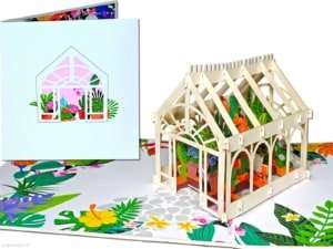 Popcards popup cards - greenhouse greenhouse construction greenhouse plants greenhouse vegetables westland flowers plants greenhouse horticulture flower greenhouse vegetable garden allotment gardening 3d card